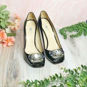 Prada Buckle Detail High Heels